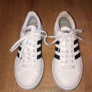 Adidas Black & White Striped Sneakers